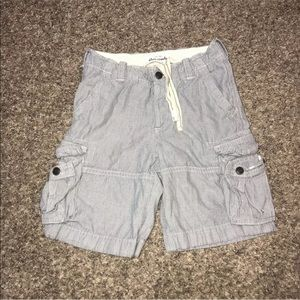 Abercrombie Youth Boy Shorts Button Fly Distressed